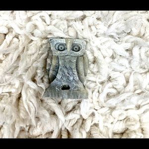 Owl made of soap stone